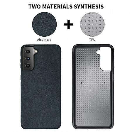 trendy eco alcantara material skin-friendly Galaxy S21 case mobile phone accessory good quality
