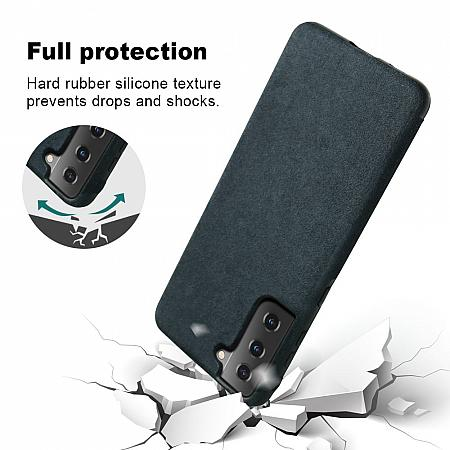 Galaxy S21 shockproof flexible black silicone bumper case impact resistant dropproof hard